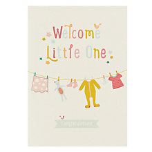 Buy Velvet Olive Welcome Little One New Baby Card Online at johnlewis.com