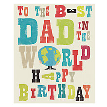 Buy Art File Best Dad Birthday Card Online at johnlewis.com