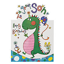 Buy Rachel Ellen Designs Great Son Birthday Card Online at johnlewis.com