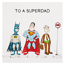 Buy Paperhouse Superdad Birthday Card Online at johnlewis.com