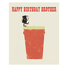 Buy Art File Brother Beer Birthday Card Online at johnlewis.com