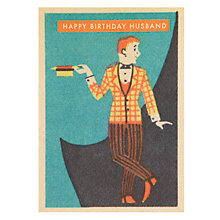 Buy Art Press Man with Straw Boater Husband Birthday Card Online at johnlewis.com