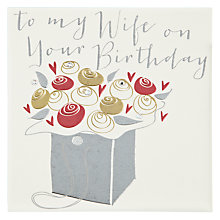 Buy Belly Button Designs Wife Birthday Card Online at johnlewis.com