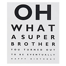 Buy Portfolio Super Brother Birthday Card Online at johnlewis.com