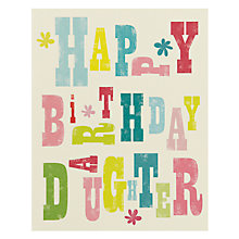 Buy Art File Daughter Birthday Card Online at johnlewis.com