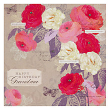 Buy Hammond Gower Roses Grandma Birthday Card Online at johnlewis.com