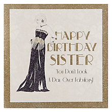 Buy Five Dollar Shake Sister Birthday Card Online at johnlewis.com
