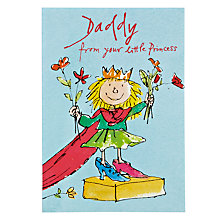 Buy Woodmansterne Little Girl Cloak Daddy Birthday Card Online at johnlewis.com
