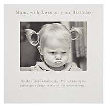 Buy Susan O'Hanlon Sulk Mum Birthday Card Online at johnlewis.com