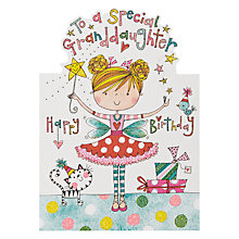 Buy Rachel Ellen Designs Granddaughter Birthday Card Online at johnlewis.com
