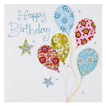 Buy Blue Eyed Sun Balloons Vintage Birthday Card Online at johnlewis.com