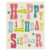 Buy Art File Sister Birthday Card Online at johnlewis.com