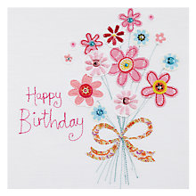 Buy Blue Eyed Sun Bouquet Vintage Birthday Card Online at johnlewis.com