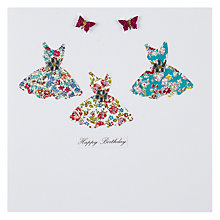 Buy Evie & Me Ditsy Dresses Birthday Card Online at johnlewis.com
