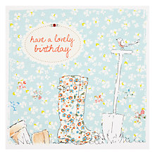 Buy Saffron Gardening Lovely Birthday Card Online at johnlewis.com