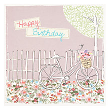 Buy Saffron Bicycle Birthday Card Online at johnlewis.com