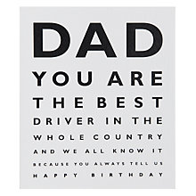 Buy Portfolio Best Dad Birthday Card Online at johnlewis.com