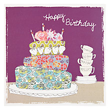 Buy Saffron Cake Birthday Card Online at johnlewis.com