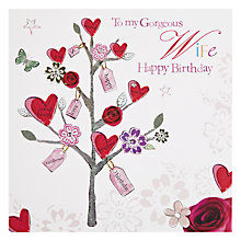 Buy Hammond Gower Three with Hearts Wife Birthday Card Online at johnlewis.com