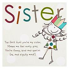 Buy Paperlink Sister Birthday Card Online at johnlewis.com