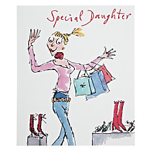 Buy Woodmansterne Girl With Scarf Birthday Card Online at johnlewis.com