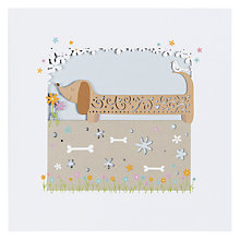 Buy Paperlink Sausage Dog Greeting Card Online at johnlewis.com