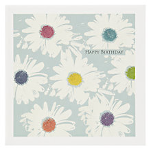 Buy The Art Rooms Fabric Daisy Greeting Card Online at johnlewis.com