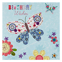 Buy Pigment Butterfly & Flowers Birthday Card Online at johnlewis.com