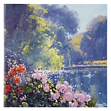 Buy Woodmansterne Lake with Pretty Flowers Birthday Card Online at johnlewis.com