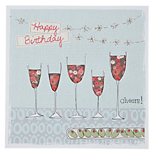 Buy Saffron Cheers Wine Birthday Card Online at johnlewis.com