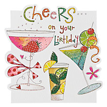 Buy Rachel Ellen Designs Cocktails Birthday Card Online at johnlewis.com