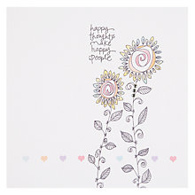 Buy Valerie Valerie Happy Thoughts Greeting Card Online at johnlewis.com