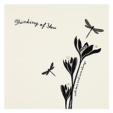 Buy Velvet Olive Thinking Of You Sympathy Card Online at johnlewis.com