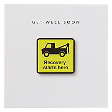 Buy Loveday Designs Recovery Starts Here Get Well Card Online at johnlewis.com