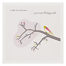 Buy The Art Rooms Little Bird Get Well Card Online at johnlewis.com