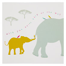 Buy Woodmansterne Parade Of Elephants Greeting Card Online at johnlewis.com
