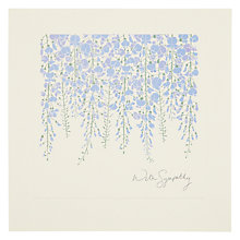 Buy Woodmansterne Hanging Wisteria Sympathy Card Online at johnlewis.com