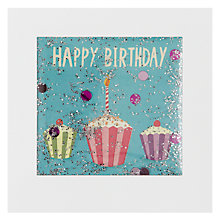Buy James Ellis Stevens Three Cupcakes Birthday Card Online at johnlewis.com