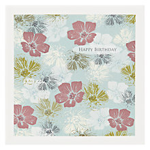 Buy The Art Rooms Fabric Geranium Birthday Card Online at johnlewis.com