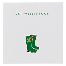 Buy Loveday Designs Get Wellie Soon Get Well Card Online at johnlewis.com
