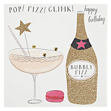 Buy Belly Button Designs Pop Fizz Clink Birthday Card Online at johnlewis.com