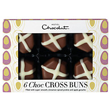 Buy Hotel Chocolat Milk Chocolate Cross Buns, 80g, Buy 4 Save £4 Online at johnlewis.com