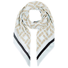 Buy Hobbs Signature H Scarf, Powder Blue Online at johnlewis.com