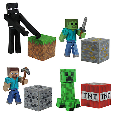 Buy Minecraft Action Figures, Assorted Online at johnlewis.com