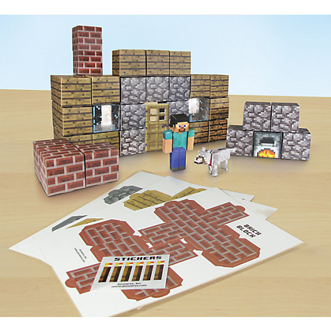 Buy Minecraft Papercraft Utility Set, Pack of 48, Assorted Online at johnlewis.com
