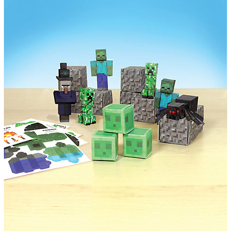 Buy Minecraft Papercraft Utility Set, Pack of 30, Assorted Online at johnlewis.com