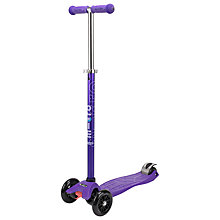 Buy Micro Scooters Special Edition Maxi Micro Scooter, Purple Online at johnlewis.com