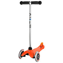 Buy Micro Scooters Mini Micro T-Bar Scooter, Orange Online at johnlewis.com