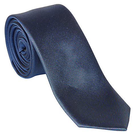 Buy Ben Sherman Plain Silk Tie, Navy Online at johnlewis.com