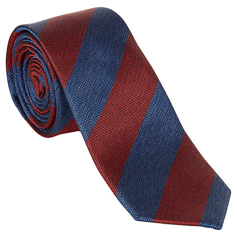 Buy Ben Sherman Club Stripe Silk Tie Online at johnlewis.com